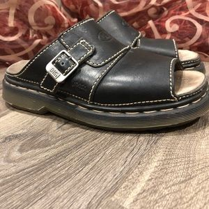 Dr Martens Black Slide Sandals